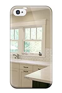 Premium Airy California Kitchen With Marble Countertops Back Cover Snap On Case For Iphone 4/4s