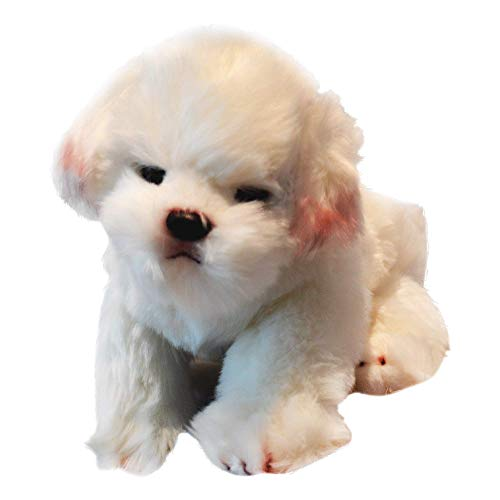 Memorable Pets Maltese/Bichon Dog | Stuffed Animal Therapy | Calming & Realistic Companion for Age Related Memory Loss