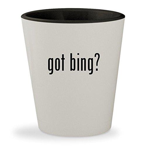Got Bing    White Outer   Black Inner Ceramic 1 5Oz Shot Glass