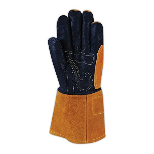 Magid Glove & Safety T8800-M Magid WeldPro T8800 Pig Grain MIG Welding Gloves, Black , Medium (Pack of 12) by Magid Glove & Safety (Image #1)