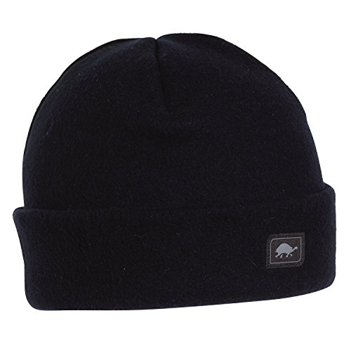 Turtle Fur Original Fleece The Hat, Heavyweight Fleece Watch Cap Beanie, Black