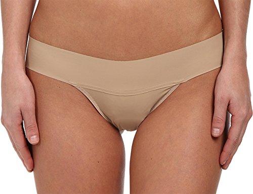 Hanky Panky Women's Bare Eve Thong Panty, Taupe, (Hanky Panky Mid Rise)