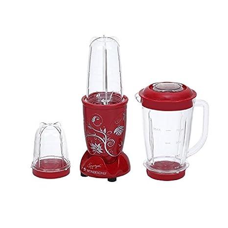 d8d0b0ffcba Buy Wonderchef 400 W Juicer Grinder with Big Mixer Jar (Red) Online at Low  Prices in India - Amazon.in