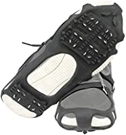1 Pair of 24 Teeth Ice Snow Grips Grippers Anti-Slip Lite Duty Serious Walk Traction Cleats with 2 Removable S