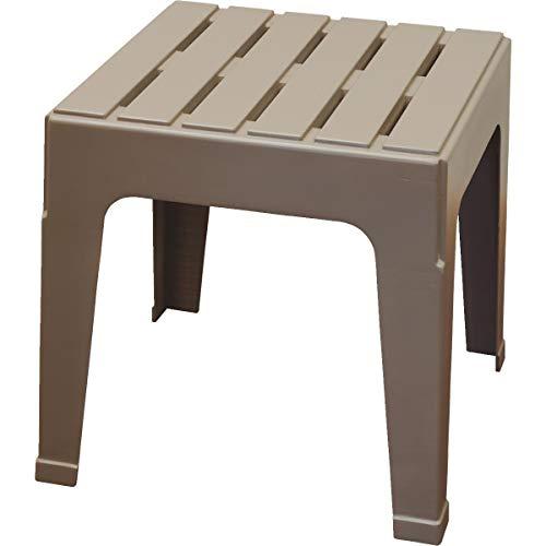 Adams 8090-96-3731 Manufacturing Stack Table, Portobello - Outdoor Plastic Side Table