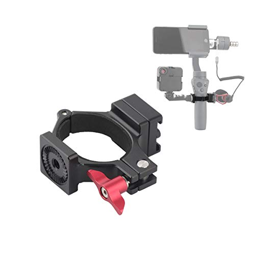 AFVO O-Ring Hot Shoe Adapter for DJI Osmo Mobile 2 and Osmo Mobile 1 Applied to Rode Video Microphone and LED Light Accessory Via Cold Shoe, 1/4 Threads and Rosette Mount