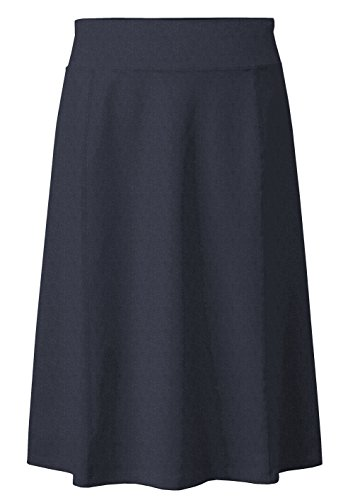 Baby'O Girl's (Children's) Stretch Cotton Knit Panel Below The Knee A-Line Skirt (Medium, Navy Heather) by Baby'O Clothing Co.