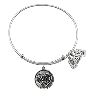 Wind and Fire Faith Charm Bangle Bracelet