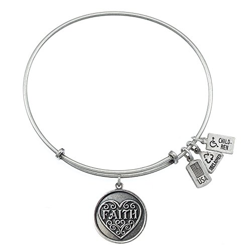 Wind and Fire Faith Charm Bangle Bracelet
