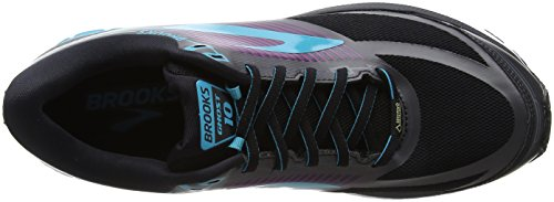 Brooks Ghost 10 GTX, Zapatillas de Running Para Mujer Negro (Blackpeacockbluehollyhock 1b089)