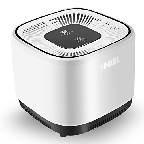 VINKEL Air Purifiers, Desktop Air Cleaner Portable HEPA Purifier Filter 2 in 1 Anion Sterilization Carbon Filter for Bedroom Car Smoke, Office Odor and Bacteria Remove
