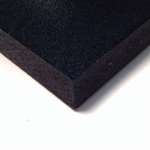 PVC Foam Board Sheet (Celtec) - Black - 12 IN x 24 IN x 6 MM (Sintra Pvc Foam Board)