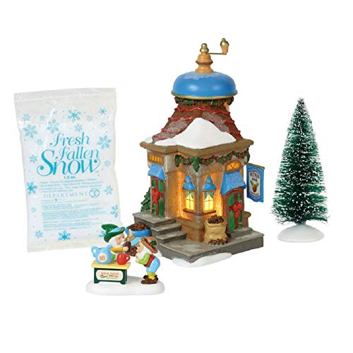 56 North Pole Village - Department 56 North Pole Village Series Nutmeg Nook Lit Building and Accessories, 7.5