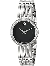 Womens Swiss Quartz Stainless Steel Casual Watch, Color:Silver-Toned (Model: