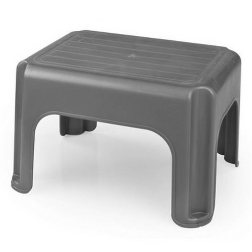 whitefurze h23212 plastic stool 40 cm silver