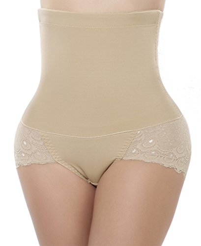 JANSION High Waisted Tummy Control Butt Lifter Panty Body Shaper Slimmer Thong Shapewear