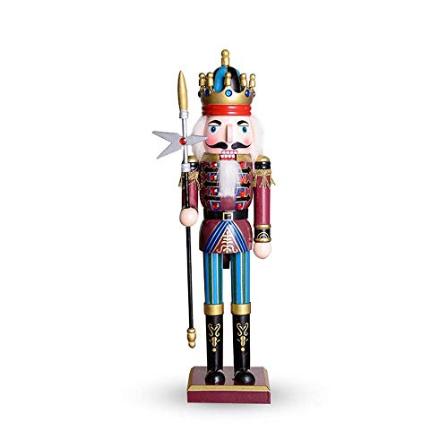 (Womdee Collectible Wooden Nutcracker Christmas, Traditional Soldier Nutcracker, Christmas Holiday Decor, 12 Inches Tall)