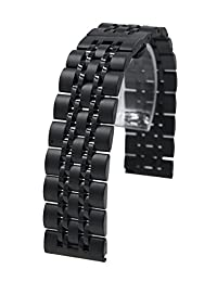 22mm Stainless Steel Quick Release Watch Band Strap Bracelet For Samsung Gear S3 Frontier / Pebble time Black