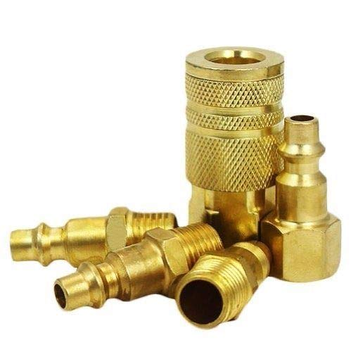 New 5Pc Solid Brass Quick Coupler Set Connector Air Hose Fitting 1/4