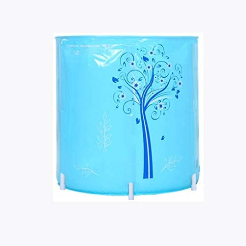SBWFH ブルーバスタブ - 折り畳み式のバスタブ、インフレなき家庭肥厚ラウンド浴槽
