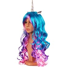 Assortment of Unicorn Wigs, Headpieces and Accessories