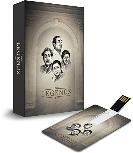 Price comparison product image Legends Music Card (USB) by Saregama 2GB Hindi Songs with 150 Songs