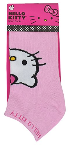 Hello Kitty Sports Women's Terry Bottom Solid Design Socks, Pink/White, Medium by Hello Kitty Sports (Image #2)