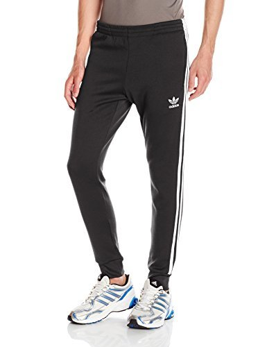 adidas Originals Men's Superstar Cuffed Track Pant, Black, M (3 Pack) by adidas