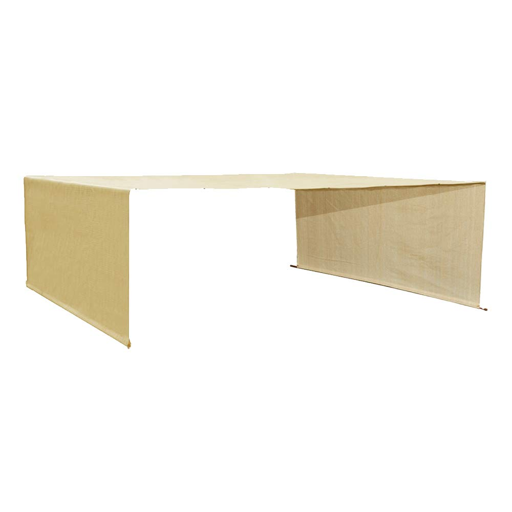 Alion Home Custom HDPE Permeable Canopy Sun Shade Cover Replacement with Rod Pockets for Pergola (14' x 10', Banha Beige)