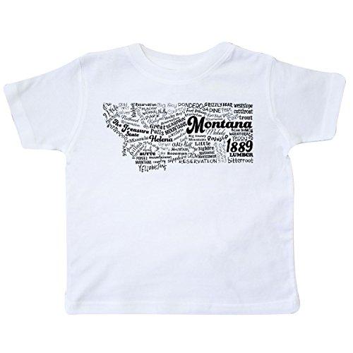 inktastic - Montana State Word Salad Toddler T-Shirt 5/6 White 30b41 (Montana State Symbol)