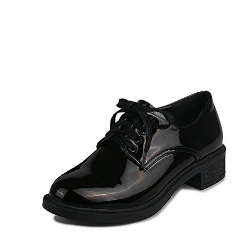 círculo de tacones gruesos zapatos moda señora/Wild wind charol zapatos de ocio de Inglaterra B