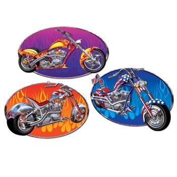 Chopper Cutouts Party Accessory (1 count) (3/Pkg) (Harley Davidson Cake Pan compare prices)