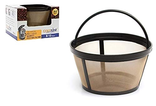 12 Cup Gold Tone Filter - GoldTone Reusable 8-12 Cup Basket Filter fits Black & Decker Coffee Machines and Brewers. Replaces your Black+Decker Reusable Coffee Filter and Permanent Black & Decker Coffee Basket Filter (1 PACK)