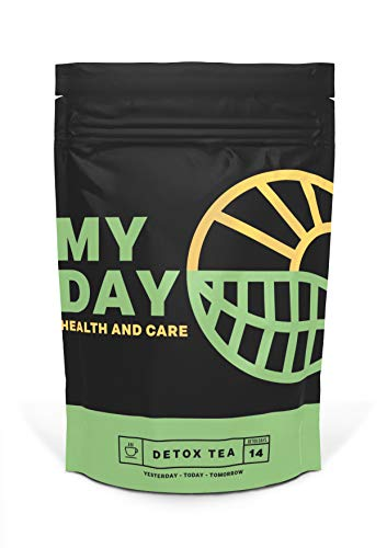 My Day 14 Day Detox, Weight Loss and Cleanse Natural Herbal Tea, Teatox for Belly Fat, Slimming Supplement, 14 Servings