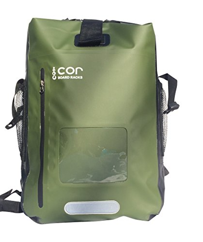 Cor Waterproof Backpack with Padded Laptop Sleeve, Green, 40 (Mens Water Resistant Case)