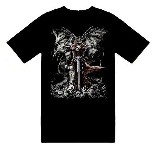 Gravestone Reaper Skeleton & Skulls T-Shirt Unisex Novelty Men's Shirt Size L (Gravestone Sayings)