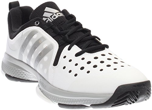 Tennis Shoes Adidas Barricade (adidas Performance Men's Barricade Classic Bounce M Wid Tennis Shoes,White/Metallic Silver/Black,8 M US)