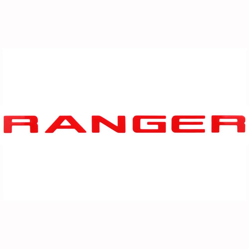 RANGER Gitter oben Logo Brief 3D Emblem Originalgr/ö/ße ABS Aufkleber Chrom Styling mit Klebstoff Silber
