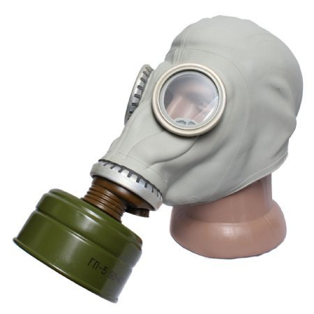 (GP-5 Original Soviet Civilian Protective Gas Mask (activated Charcoal filter and bag included) (Extra Large, black))