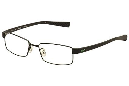 76206b23e5 Amazon.com  Nike Eyeglasses 8162 010 Shiny Black Black Demo 53 17 ...
