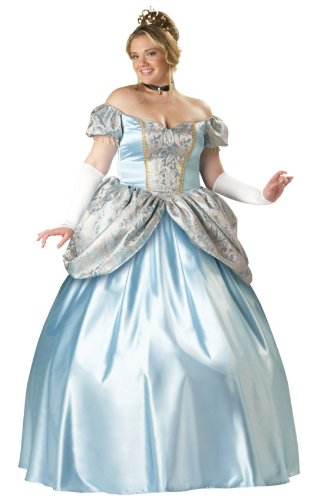 Cinderella Costumes Plus Size (InCharacter Costumes Women's Enchanting Princess Plus Size Costume, Blue, XX-Large)