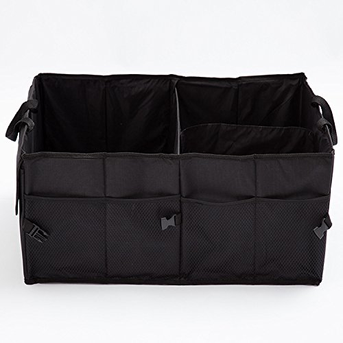 Y&Z Trunk Organizer fit Car/Truck/SUV/Minivan for Auto Accessories in Bed Interior, Collapsible Vehicle Caddy Large Box Tote Compartment Heavy Duty for Grocery,