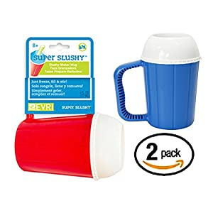 Super SLUSHY MUGS Frozen Beverage Slushie Cups - SET OF 2 - Slushee Treats at Home