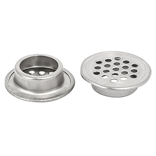 uxcell 19mm Bottom Dia Stainless Steel Round Shaped Mesh Hole Air Vent Louver 30pcs by uxcell (Image #1)