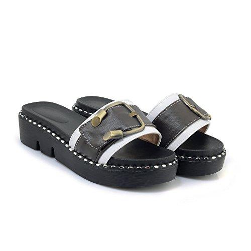 Flop nbsp;Flip White nbsp; Women's Chunky Casual Sandals Heel Qin amp;X Pw0Rqq8