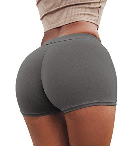 Moda Donne Hot Skinny Grigio Pants Tinta Shorts Pantaloncini Unita 5ggarqZU