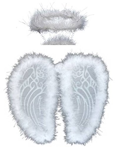 happy deals Adorable Boa Lined Angel Wings and