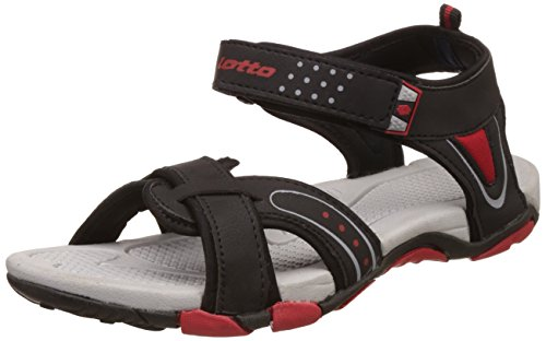 Lotto Men's Grey/Red Sandals and Floaters