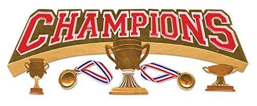 Jolee's Boutique Title Wave Dimensional Stickers, Champions