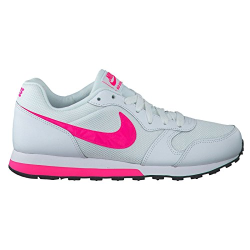 Price comparison product image NIKE Youths MD Runner 2 White Pink Leather Trainers 38 EU